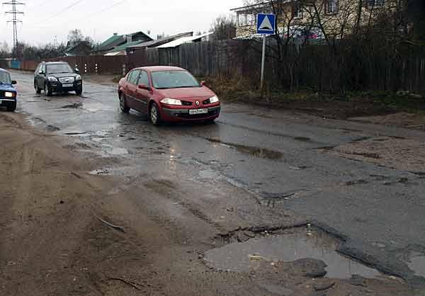 Направление Борковского шоссе вблизи Каблукова