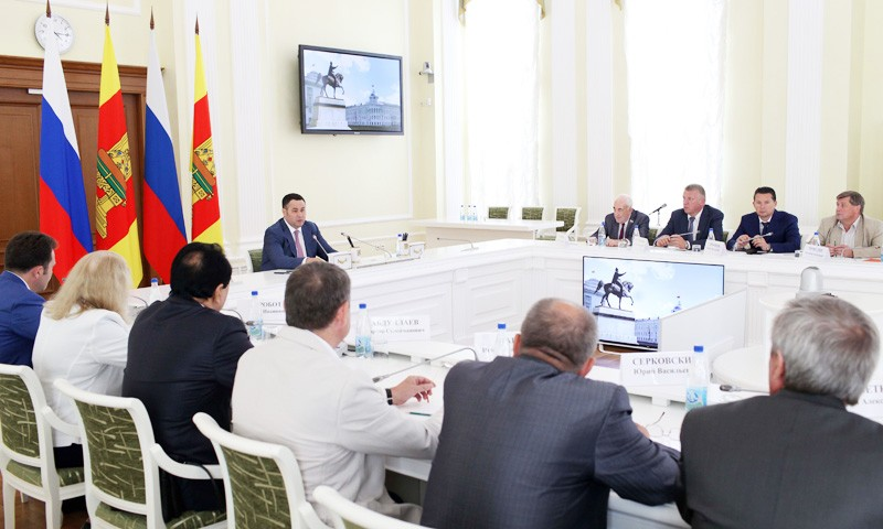 Встреча главы региона с представителями «Тверского объединения строителей»