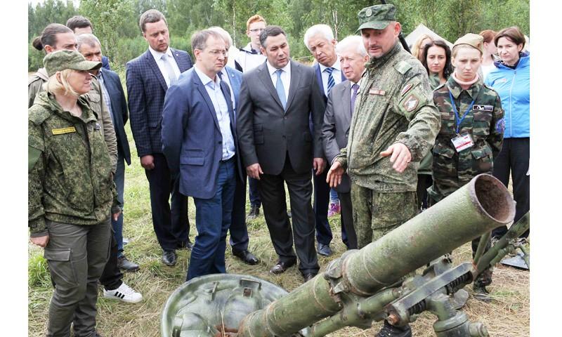 Международный лагерь «Калининский фронт»  посетили глава региона Игорь Руденя и Министр культуры РФ Владимир Мединский