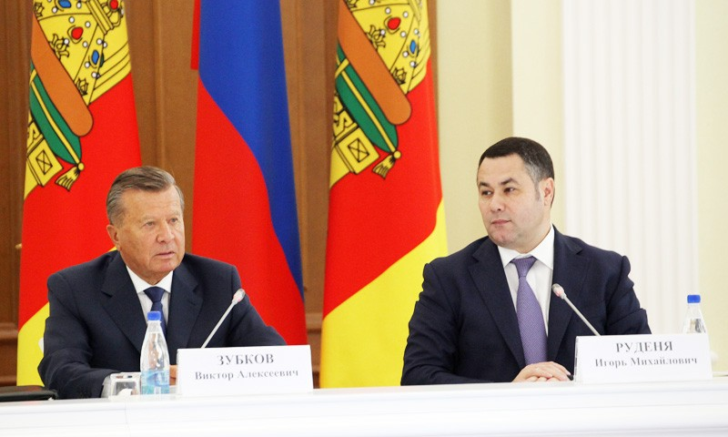 Совещание по развитию газоснабжения Тверской областипровели Виктор Зубков и Игорь Руденя