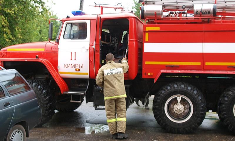 Сделав свою работу, пожарные уехали.