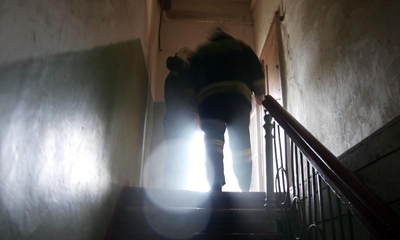 Пожарные закончили работу.