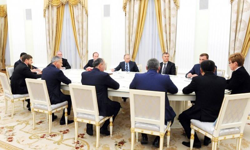 С вновь избранными главами субъектов страны во встрече Владимира Путина принял участие Игорь Руденя