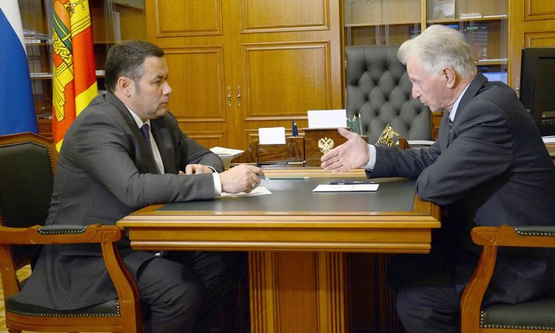 C Почетным гражданином области Владимиром Сусловым встретился глава региона