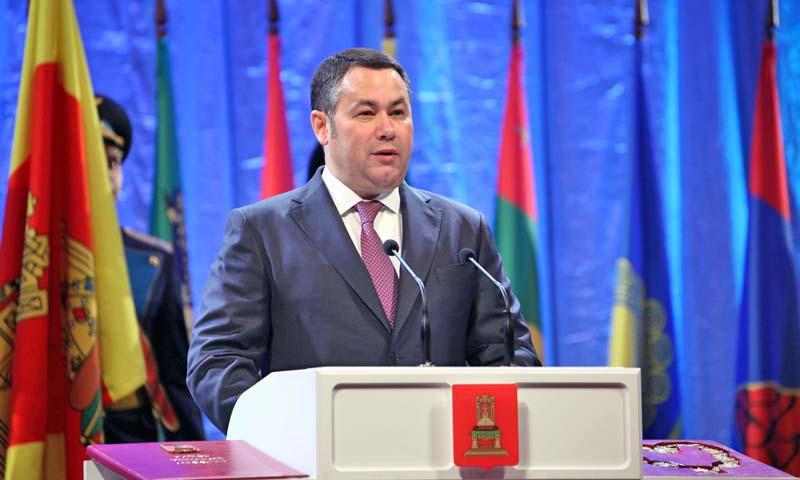 На имя Игоря Рудени поступают поздравления с вступлением в должность губернатора Тверской области