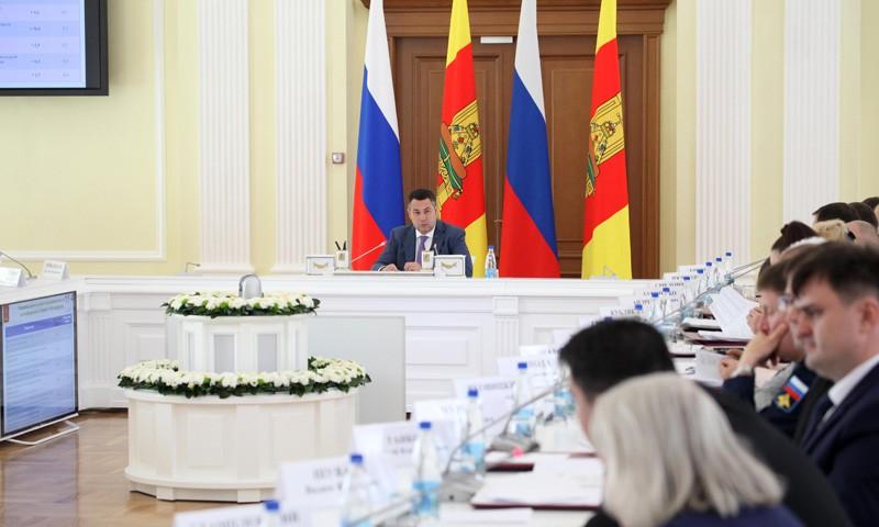 Заседание Правительства Тверской области провел Игорь Руденя