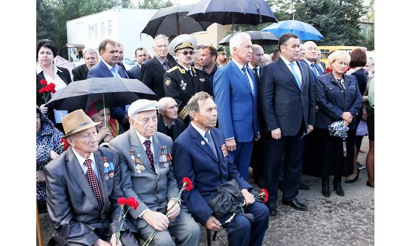Открыли аллею Героев Советского Союза в Калининском районе Тверской области