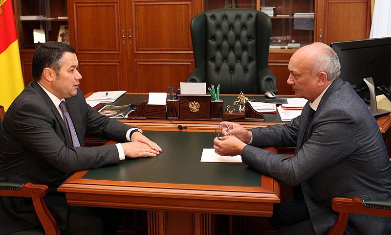 Игорь Руденя предложил главе Селижаровского района стать первым зампредом Правительства Тверской области