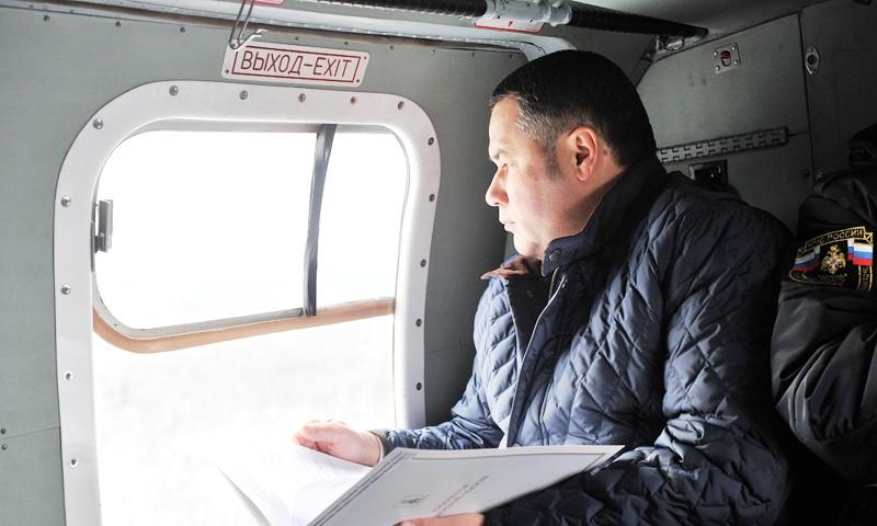 В Конаковском районе на месте упавшей вышки установлены три новые опоры ЛЭП