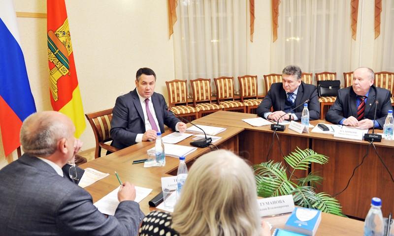 С руководителями Общественных палат области и Твери встретился губернатор Игорь Руденя