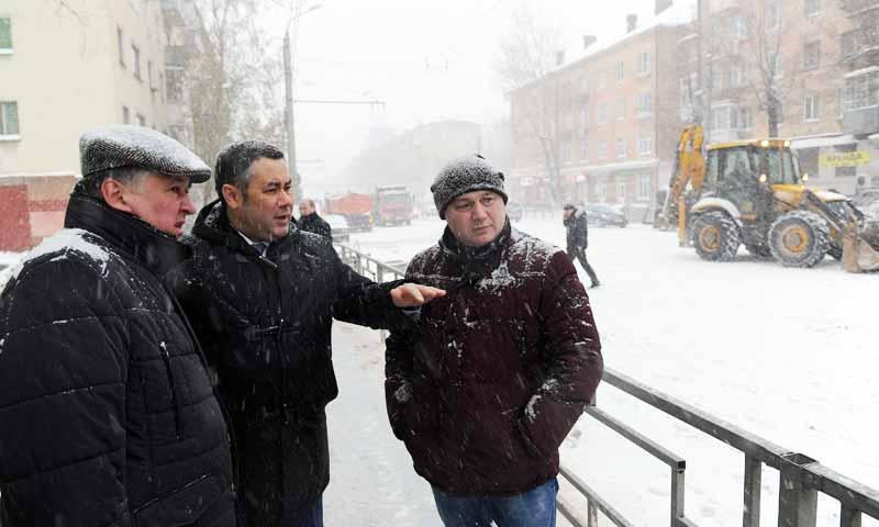 Устранение аварии на Волоколамском проспекте в Твери проинспектировал Игорь Руденя