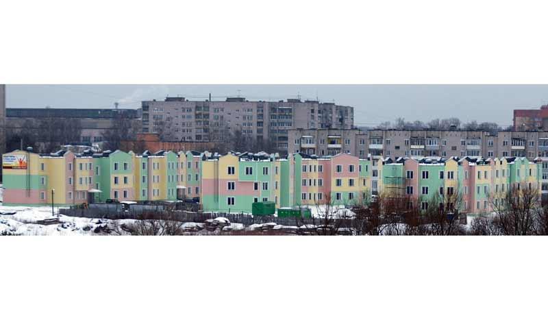 Новые дома на берегу Волги