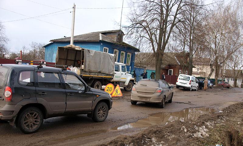 """ОО """"Мы-кимряки!"""" обследуют дороги в городе Кимрых"""