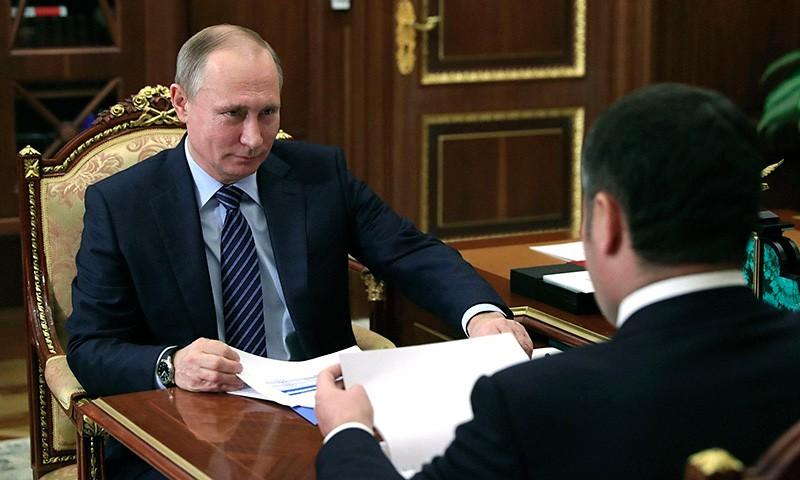 Чаще других глав регионов России в 2017 году с Владимиром Путиным встречался губернатор Тверской области Игорь Руденя