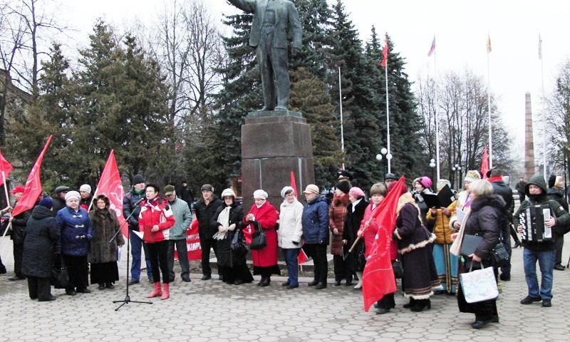 Митинг, посвященный юбилею революции