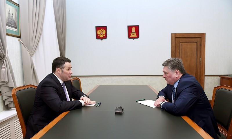 Игорь Руденя и Алексей Огоньков обсудили приоритетные направления развития Твери