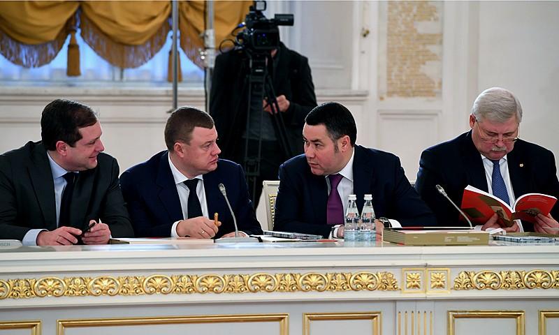 В заседании Госсовета РФ, которое провел Владимир Путин участвовал Игорь Руденя