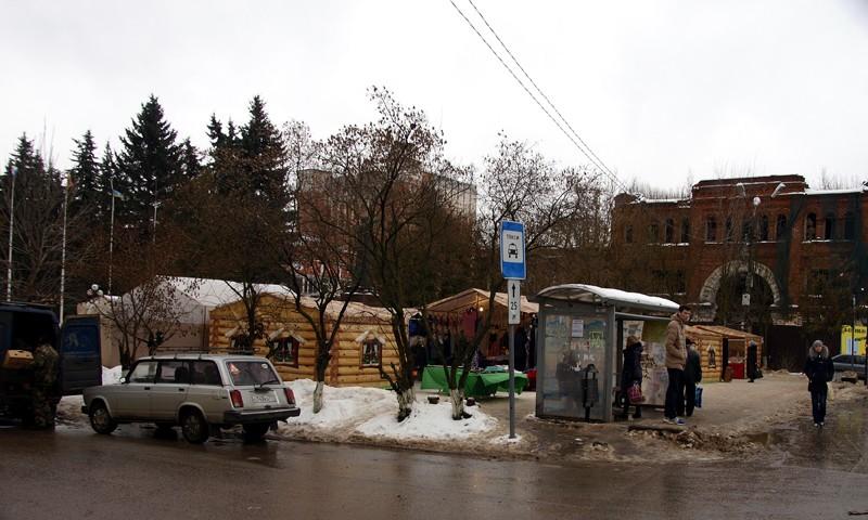 Ярмарка новогодняя в городе Кимры