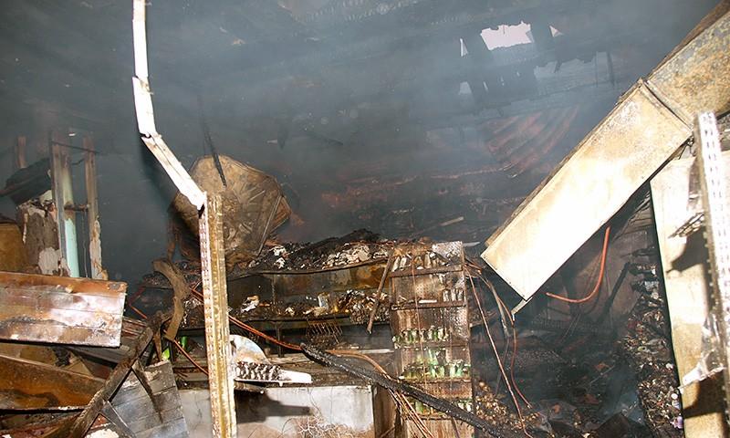 В Крещенскую ночь в городе Кимры сгорела «Пятёрочка»