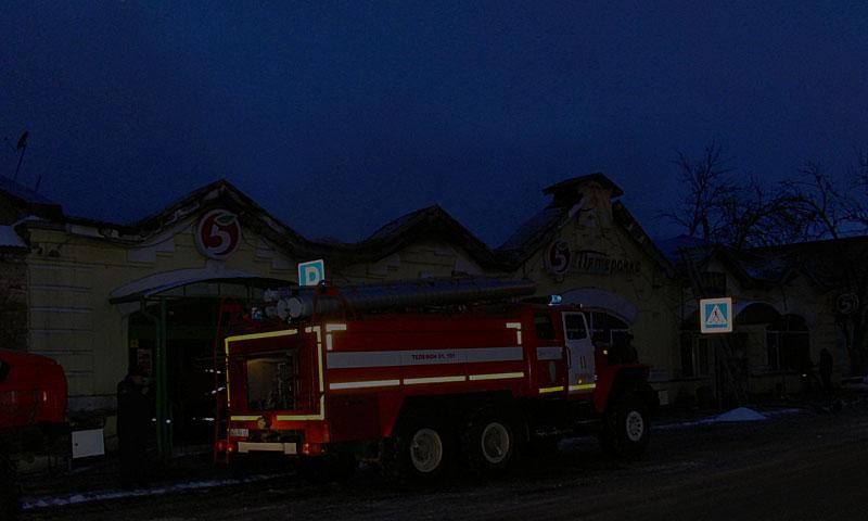 Ночью с 18 на 19 января в городе Кимры сгорела «Пятёрочка», погиб один человек