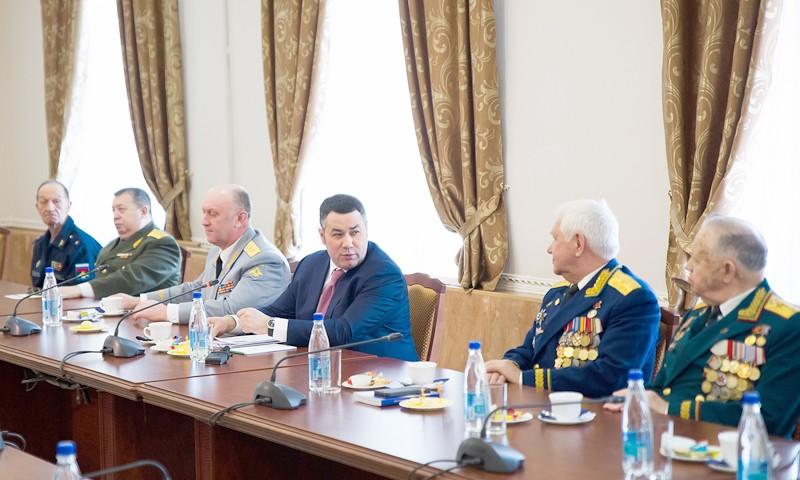 Игорь Руденя и члены совета «Генеральского клуба» обсудили создание в Тверской области военно-патриотического парка