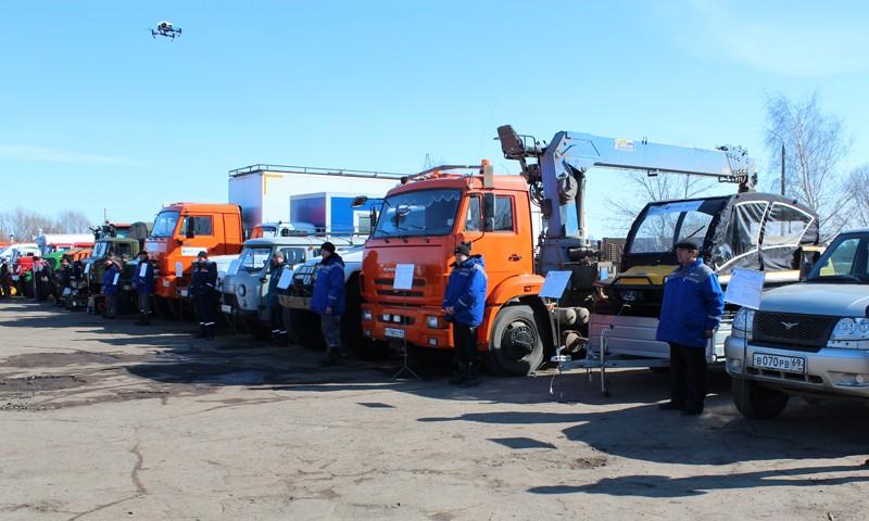 Специалисты тверского филиала МРСК Центра приняли участие в смотре техники в преддверии паводкоопасного периода и пожароопасного сезона1