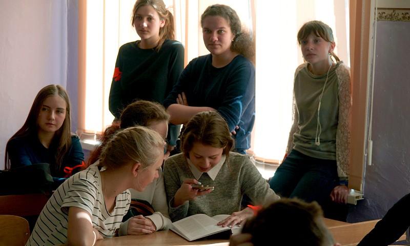 Два девятых класса в СШ №4 узнали о «Книге памяти. Кимры»