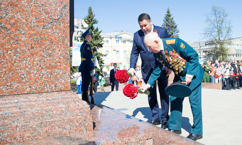 Представители Тверской области приняли участие в параде Победы в Москве