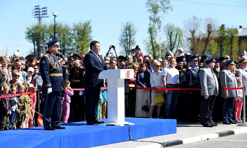 Игорь Руденя принял участие в шествии «Бессмертного полка» в Твери