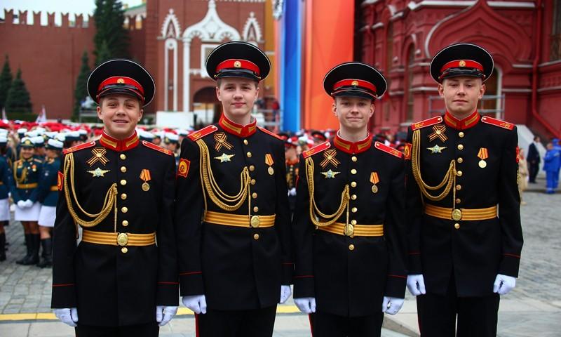 Тверские суворовцы приняли участие в генеральной репетиции Парада Победы