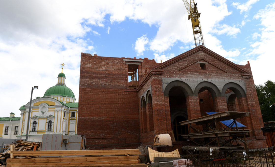 9 июня Губернатор Игорь Руденя побывал на строительной площадке Спасо-Преображенского собора в Твери