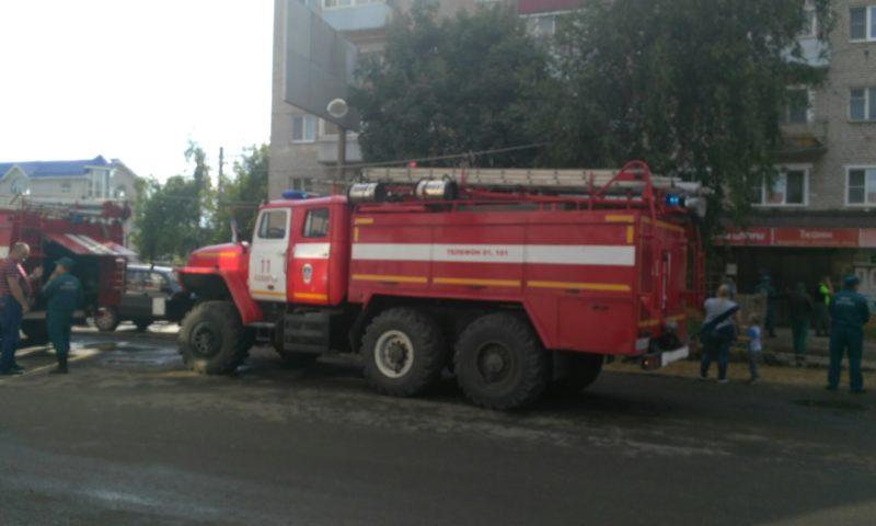 В Кимрах загорелся магазин «Идрис»