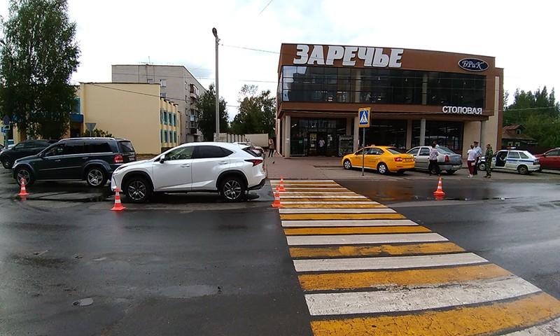 Подросток сбит на пешеходном переходе на улице Орджоникидзе в г. Кимры