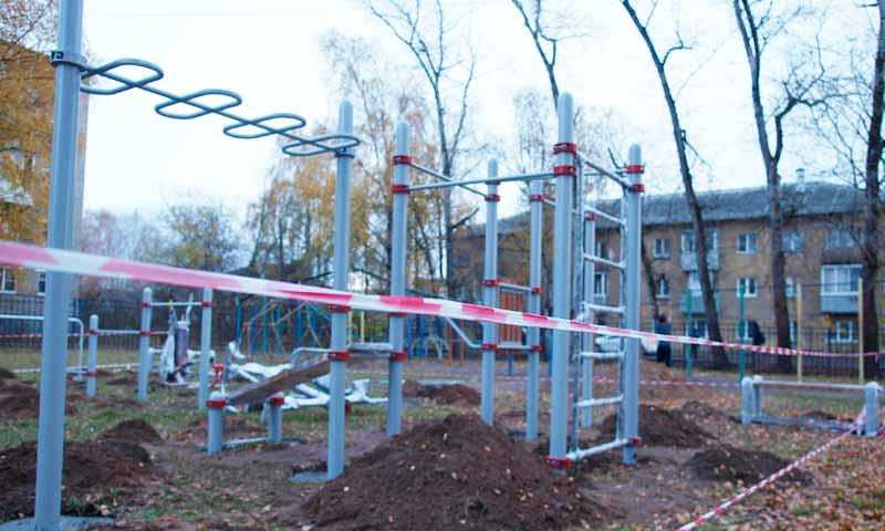 Депутаты подарили кимрякам новую площадку для воркаута