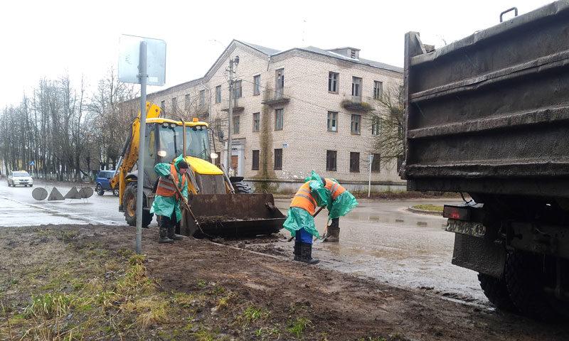 Весенняя уборка кимрских улиц