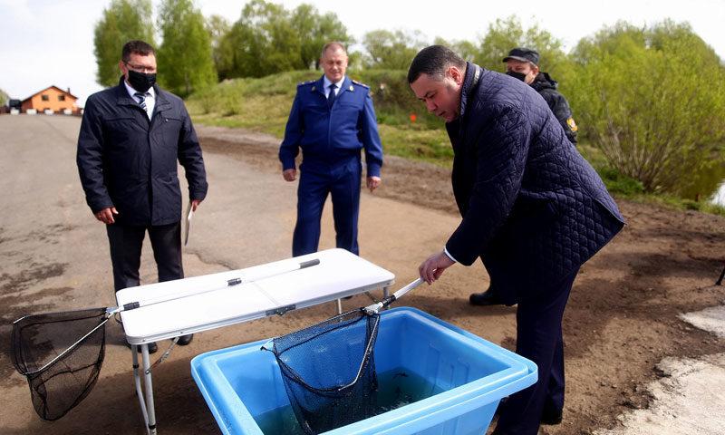 В День Волги Игорь Руденя принял участие в мероприятии по зарыблению главной водной артерии региона