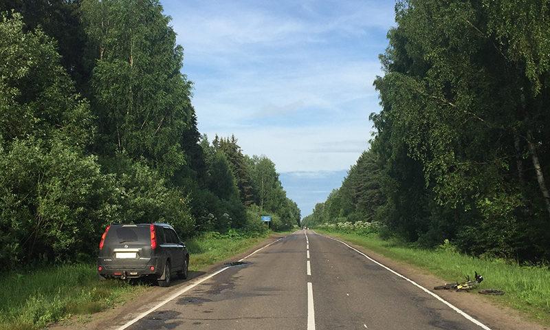 В Кимрском районе автомобиль сбил девочку-велосипедиста
