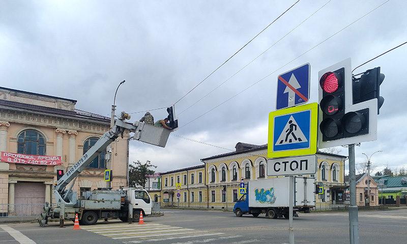 На улицах города новые светофоры