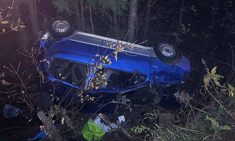Пьяная авария в опасном месте под Кимрами