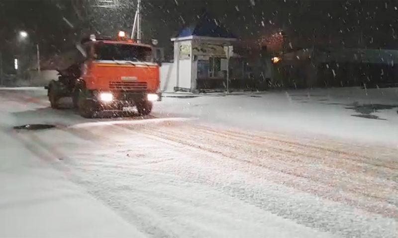 Первый снег осени 2020 в Кимрах