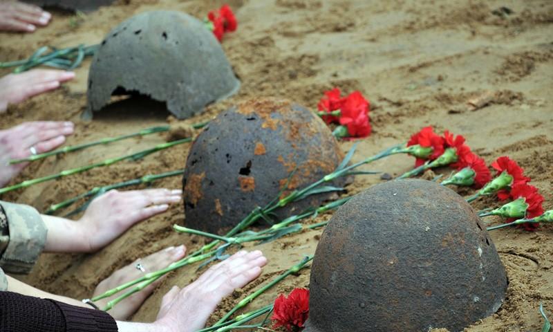 В Краснодарском крае поисковики обнаружили останки советского солдата из Курска